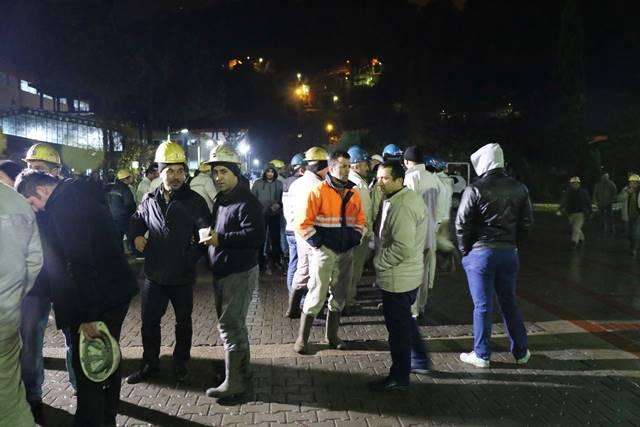 Maden İşçilerinin Eyleminden Kareler
