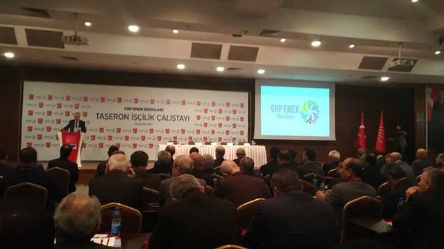 CHP Taşeron İşçi Çalıştayı.