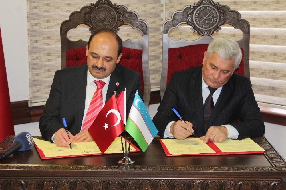 Özbekistan ile ilk akademik anlaşma Kastamonu Üniversitesi arasında yapıldı