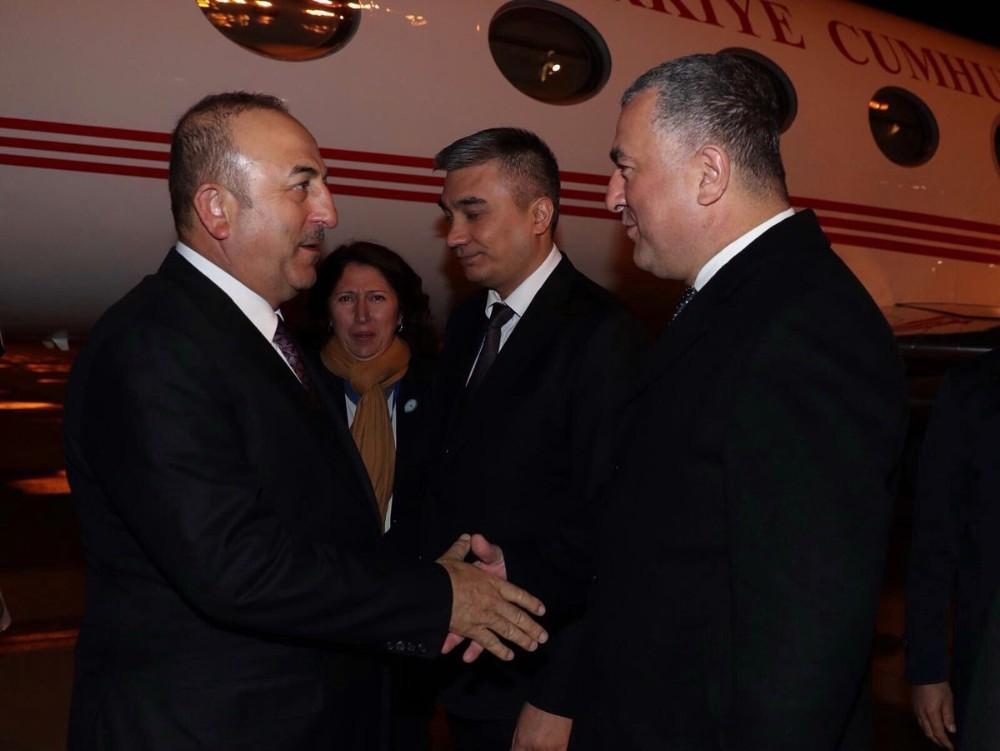 Mevlüt Çavuşoğlu Özbekistan'da