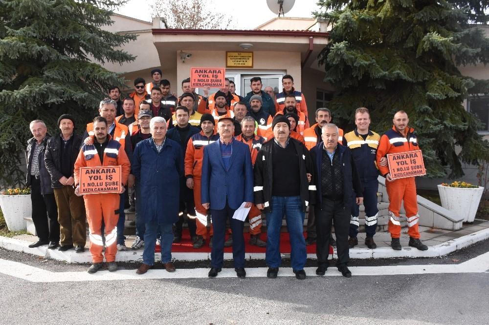 Kızılcahamam Karayolları taşeron işçilerinden kadro talebi.!