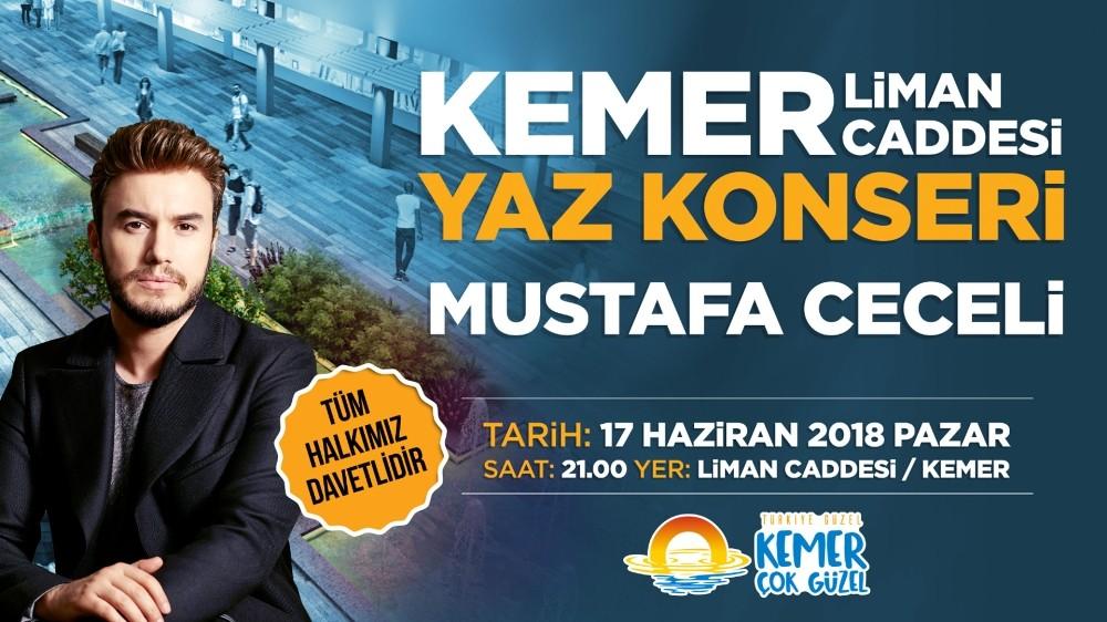 Kemer Mustafa Ceceli konseri ile yaza merhaba diyecek