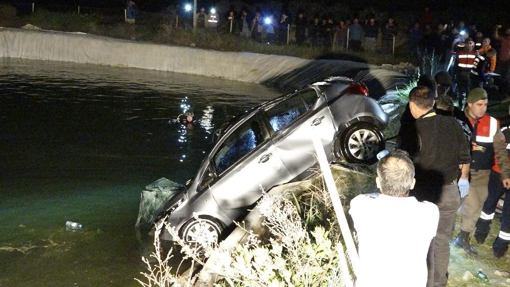 Kullandığı aracın kontrolünü kaybeden hemşire aracıyla sulama havuzuna uçtu: 1 ölü