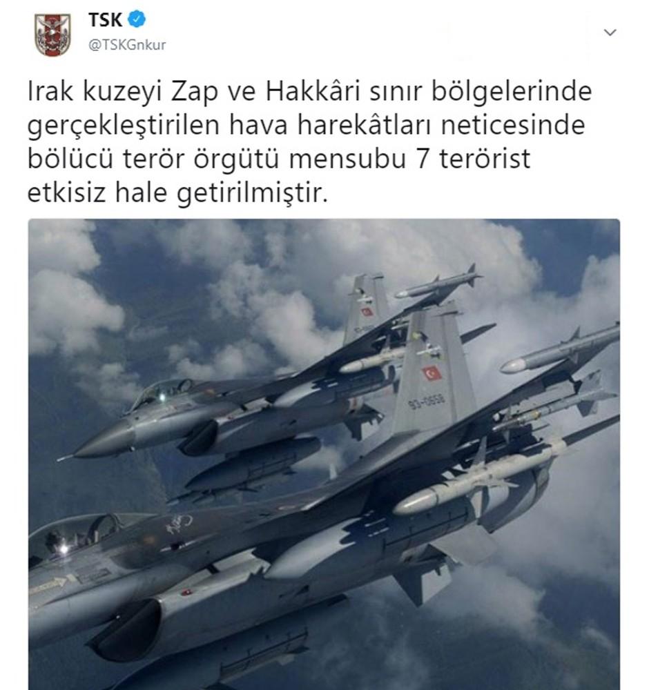 TSK: ″7 terörist etkisiz hale getirildi″