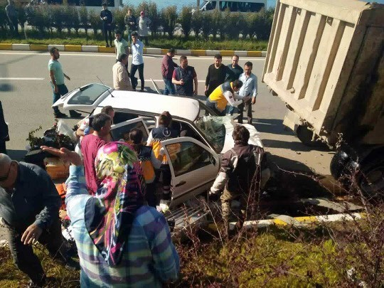 Doğu Karadeniz'de 2018 yılının ilk 4 ayında trafik kazalarında 2 bin 60 kişi yaralandı