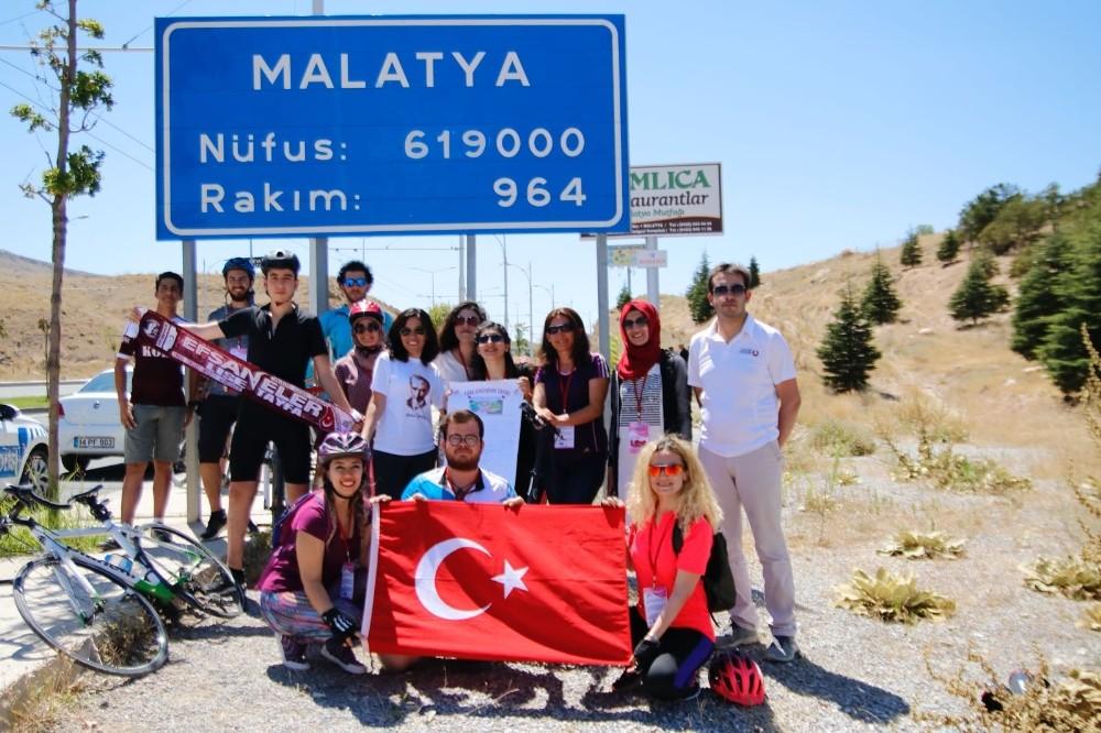Türk Kadının Zaferi Bisiklet Turu' Malatya'da