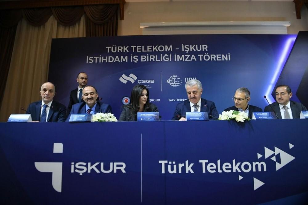 İŞKUR ve Türk Telekom arasında 2 bin 500 tekniker istihdam edilecek