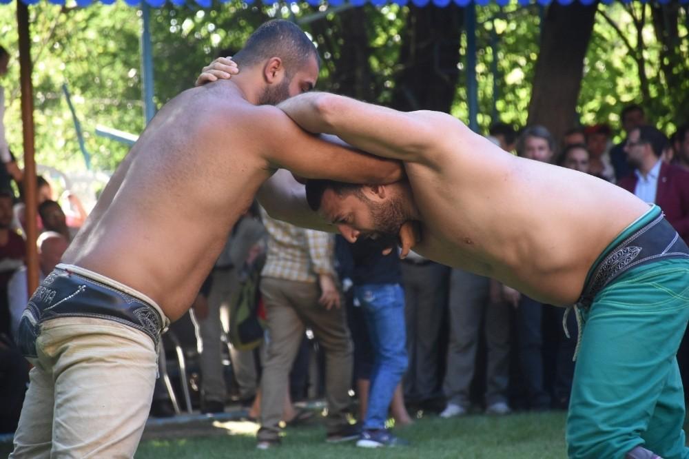 Yeşilyurt'ta karakucak güreşleri coşkusu