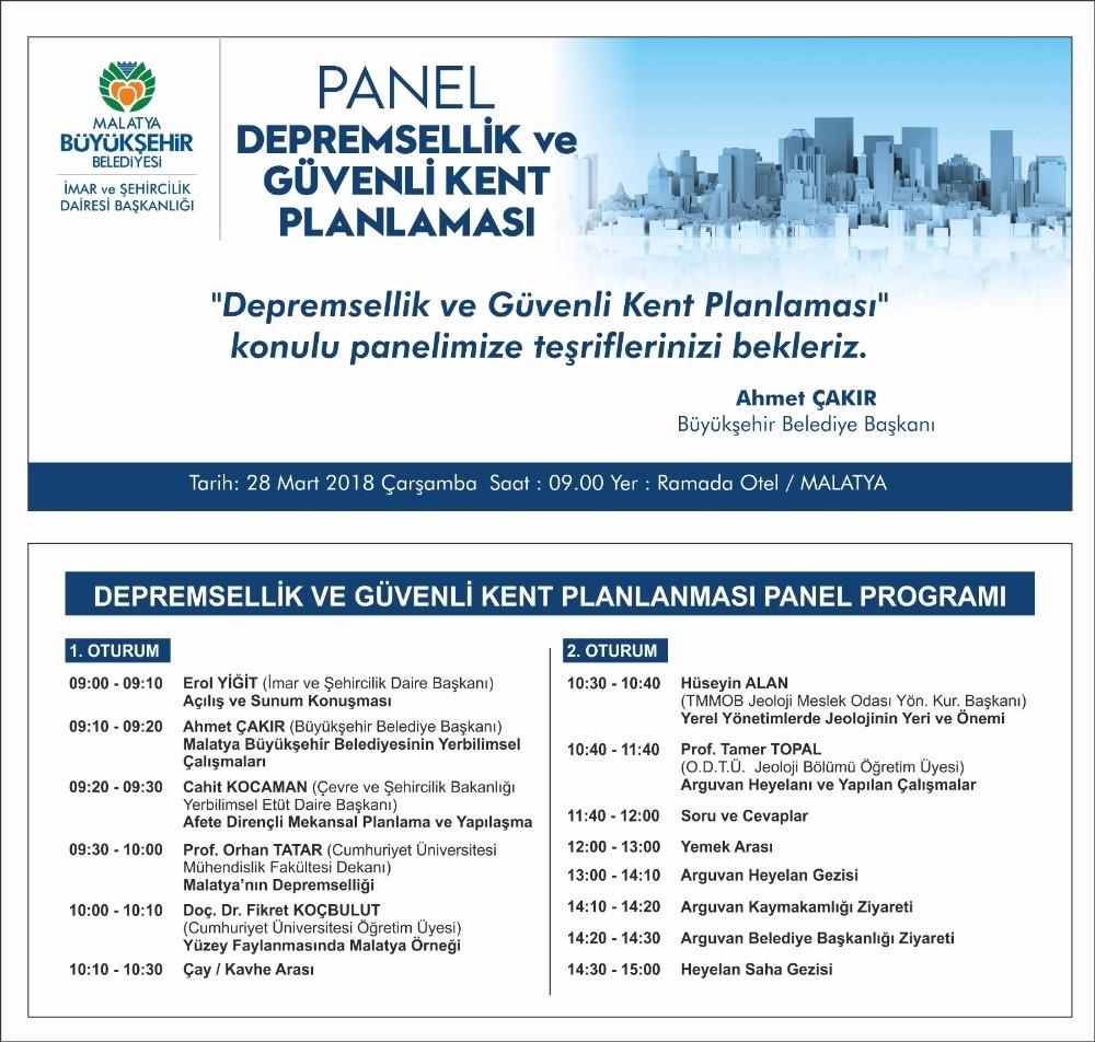 'Depremsellik ve Güvenli Kent Planlaması' paneli
