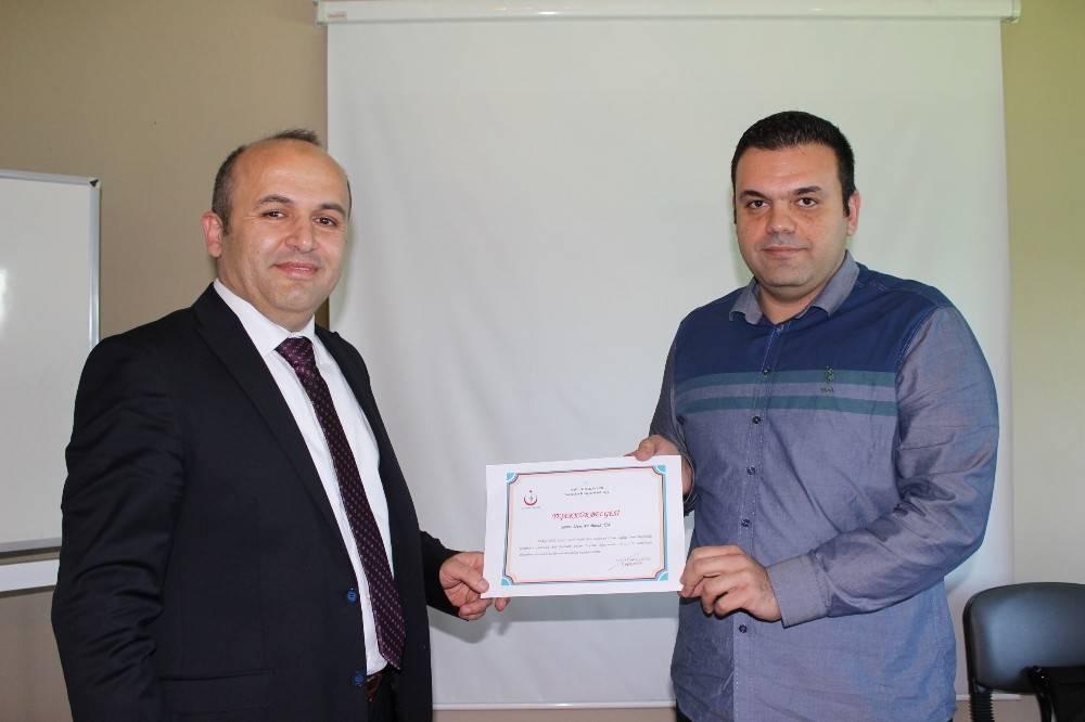 112 ekiplerine sertifikaları verildi