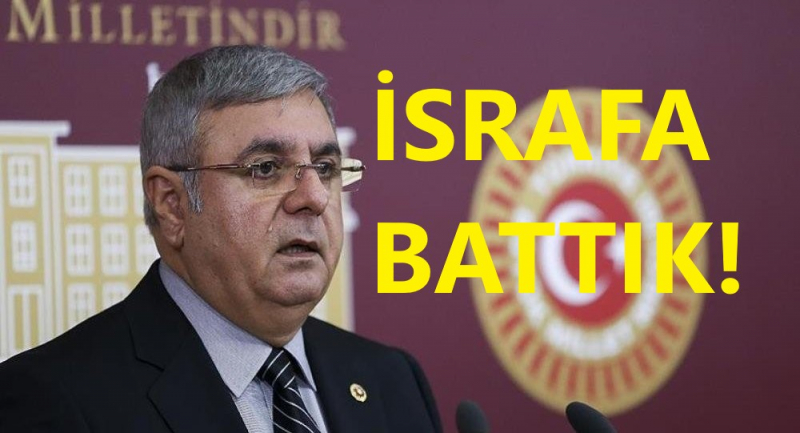 AK Partili Metiner'den İtiraf! İsrafa Battık