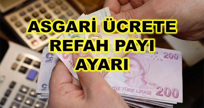 Asgari Ücrete Refah Payı Ayarı