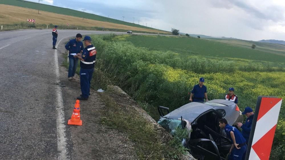 Kırıkkale'de trafik kazası: 1 ölü, 4 yaralı