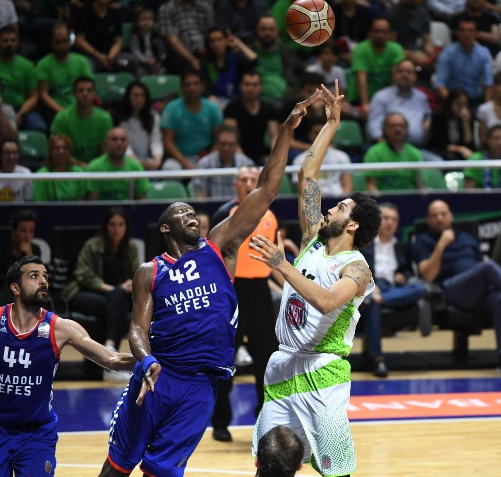 Tahincioğlu Basketbol Süper Ligi play-off: TOFAŞ: 89 - Anadolu Efes: 82
