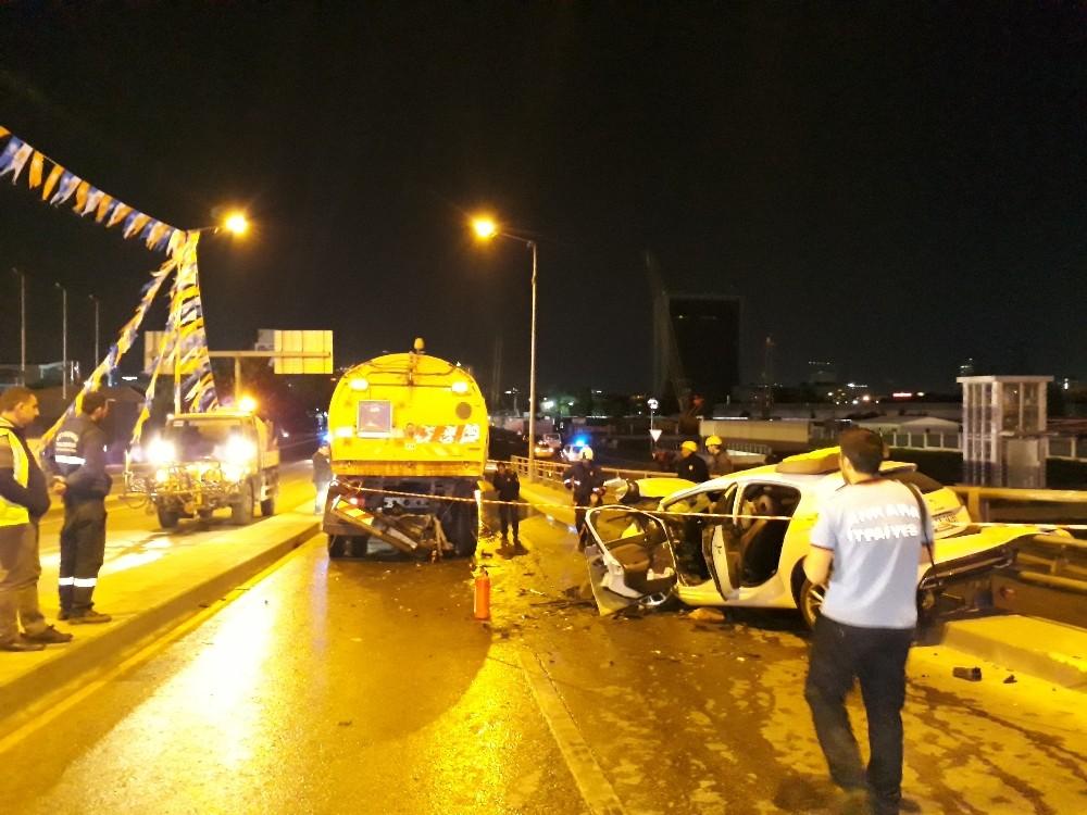 Ankara'da 10 araç birbirine girdi: 5 yaralı