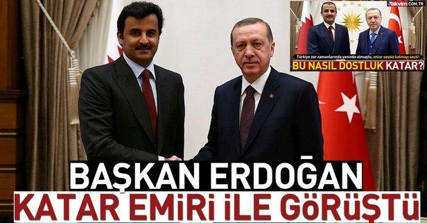 Başkan Erdoğan Katar Emiri ile görüştü.