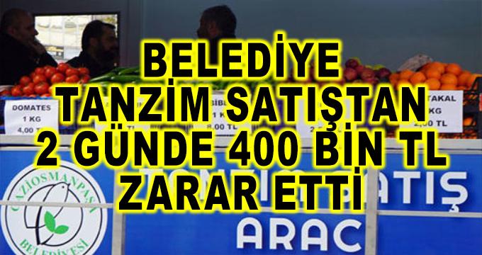Belediye, Tanzim Satıştan 2 Günde 400 Bin TL Zarar Etti