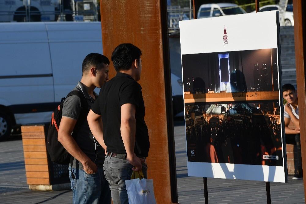 15 Temmuz'u anlatan 38 fotoğraf Taksim Meydanı'nda sergileniyor