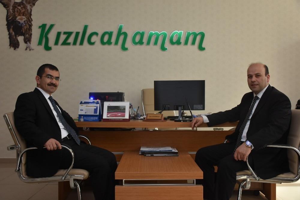 SGK Müdürü Ali Turançiftçi Kızılcahamam'a veda etti