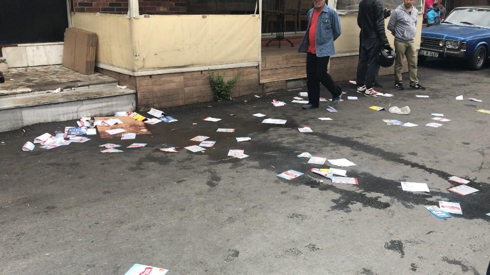 (Özel) Sarıyer'de AK Parti seçim aracının şoförü darp edildi