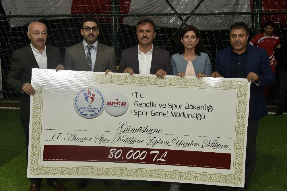 Spor Bakanlığından Gümüşhane'nin amatör spor kulüplerine destek