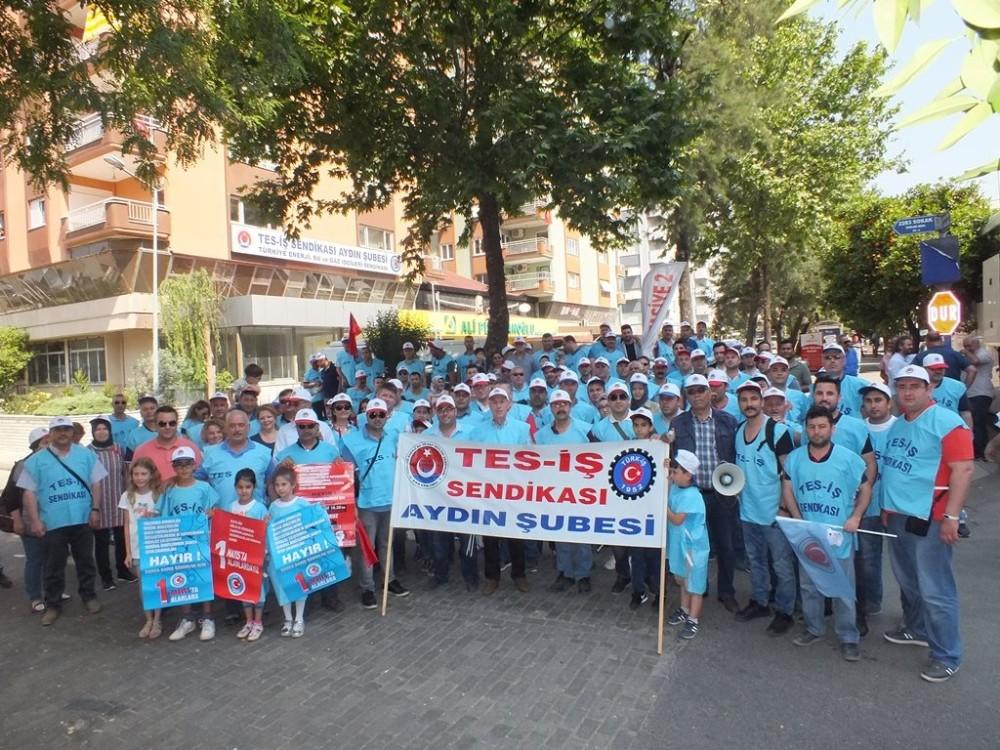 Aydın Tes-İş 300 işçiyle İzmir Gündoğdu'ya çıkartma yaptı