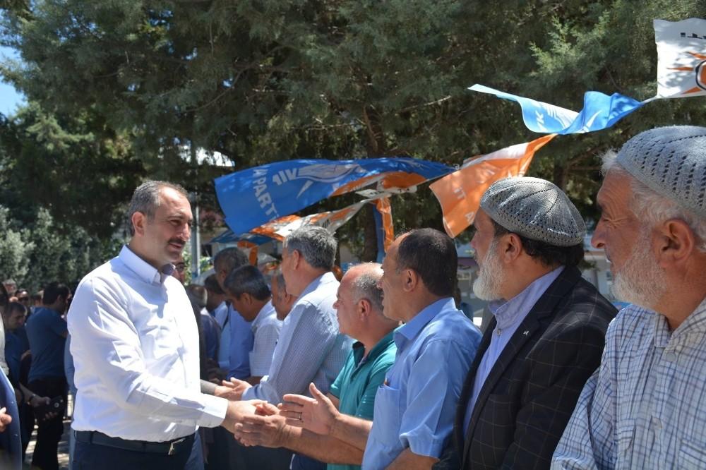 Adalet Bakanı Gül'den Nurdağı'na teşekkür ziyareti