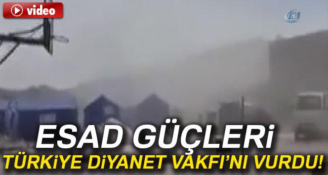 Esad güçleri Türkiye Diyanet Vakfını vurdu.!