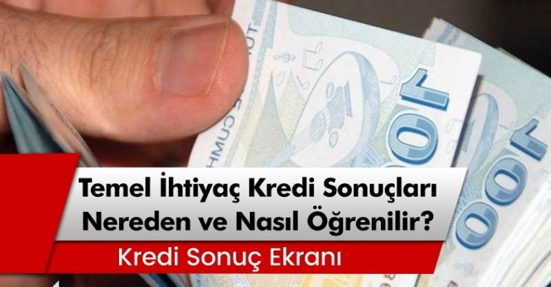 Halkbank, Vakıfbank ve Ziraat Bankası temel ihtiyaç desteği kredi sonuçları nasıl öğrenilir?