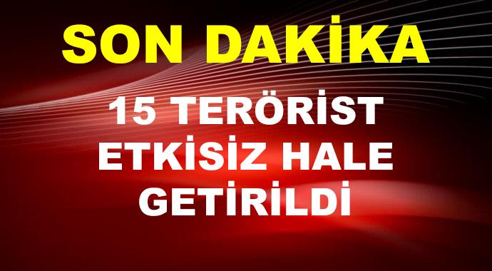 Hava Harekatında 15 Terörist Etkisiz Hale Getirildi