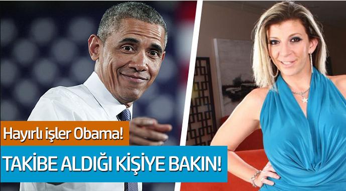 Hayırlı işler Barack Obama: Takibe aldığı kişiye bakın!