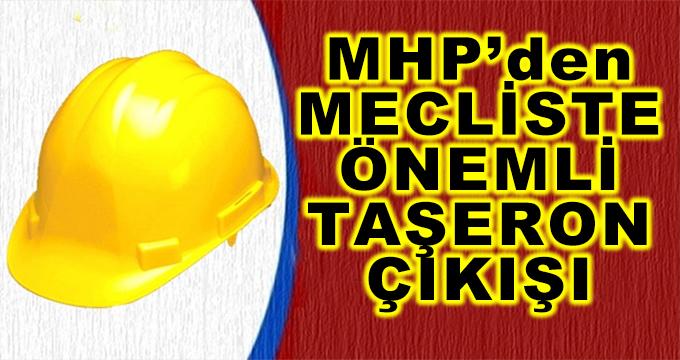 MHP'den Mecliste Önemli Taşeron Çıkışı