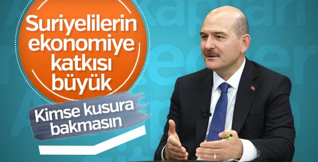 Süleyman Soylu: Suriyelilerin Ekonomimize Katkısı Büyük