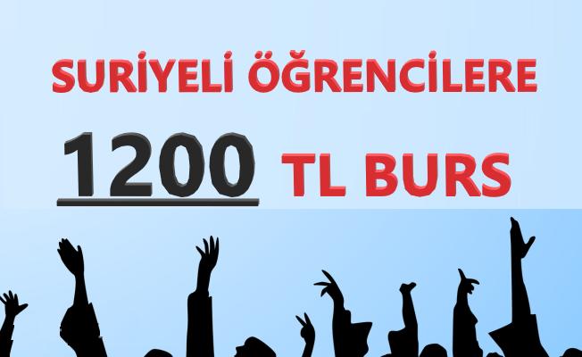 Suriyeli Öğrencilere 1200 TL Burs!