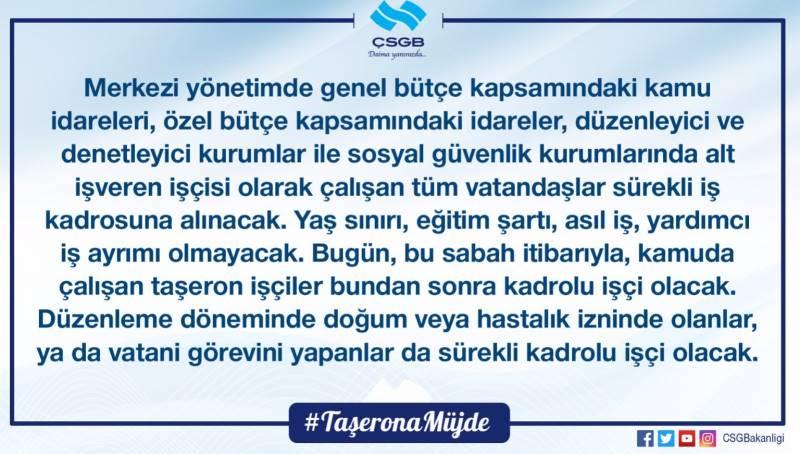 Taşeron Kadro Yasası Kimleri Kapsamıyor.!