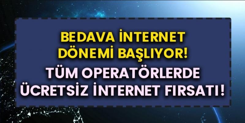 Türkiye'de Bedava İnternet Dönemi Başlıyor! Vodafone, Turkcell, Turk Telekom'da Ücretsiz İnternet Paketinizi Hemen Alın!