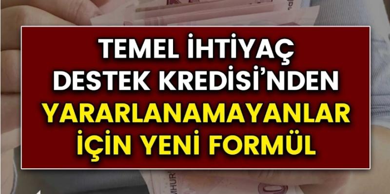 Ziraat bankası, Halkbank, Vakıfbank Temel ihtiyaç destek kredisinden faydalanamayanlar için formül!