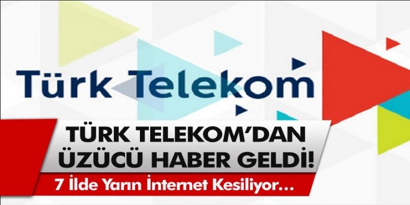 Türk Telekom Uyardı: İstanbul dahil olmak üzere diğer şehirlerde de internet kesintisi olacak…