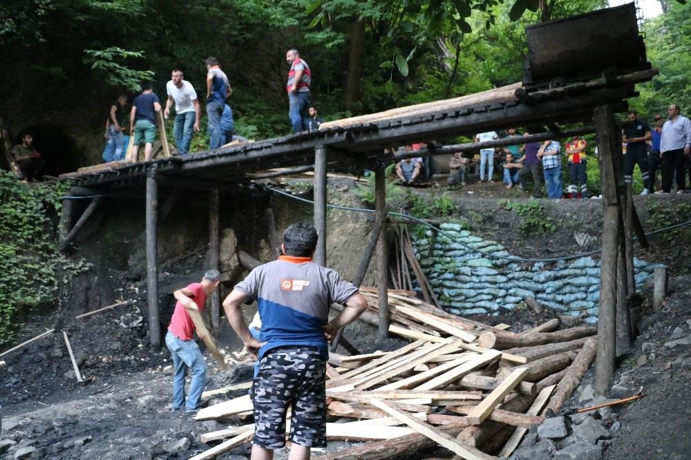 Kaçak ocakta mahsur kalan işçiyi kurtarma çalışmaları sürüyor