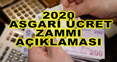 2020 Asgari Ücret Zammı Açıklaması! İşte Kritik Rakam