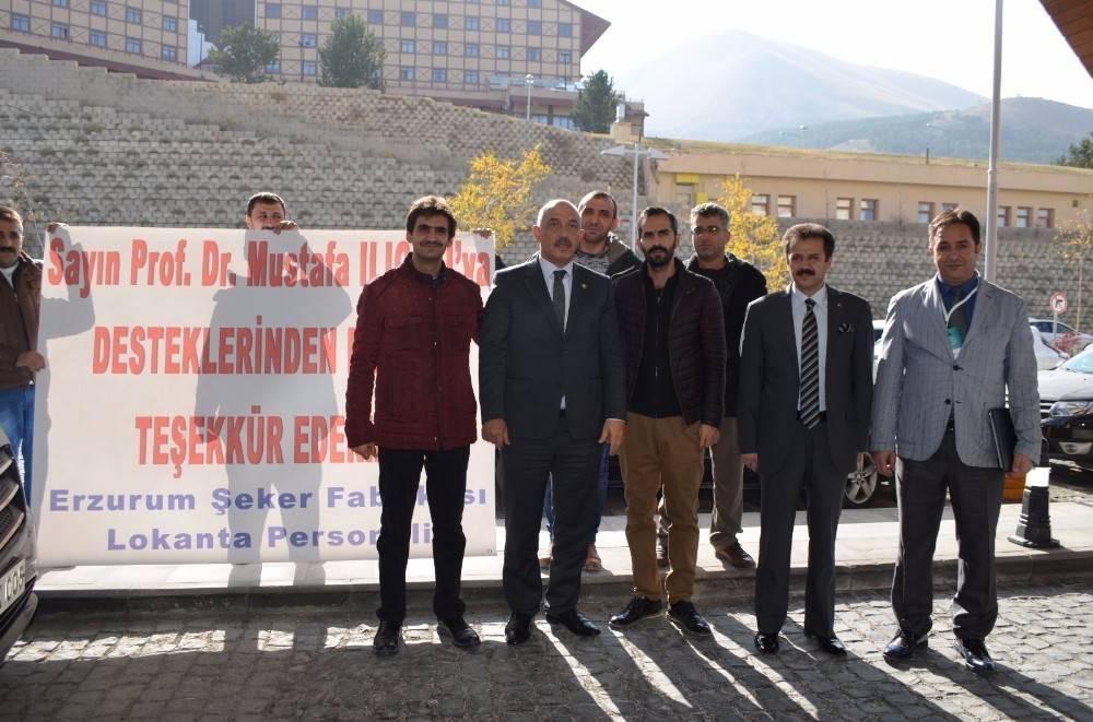 Şeker fabrikası işçileri Milletvekili Ilıcalı 'ya teşekkür etti.