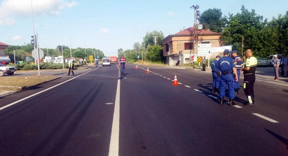 Kamyonun çarptığı bisikletli çocuk ağır yaralandı