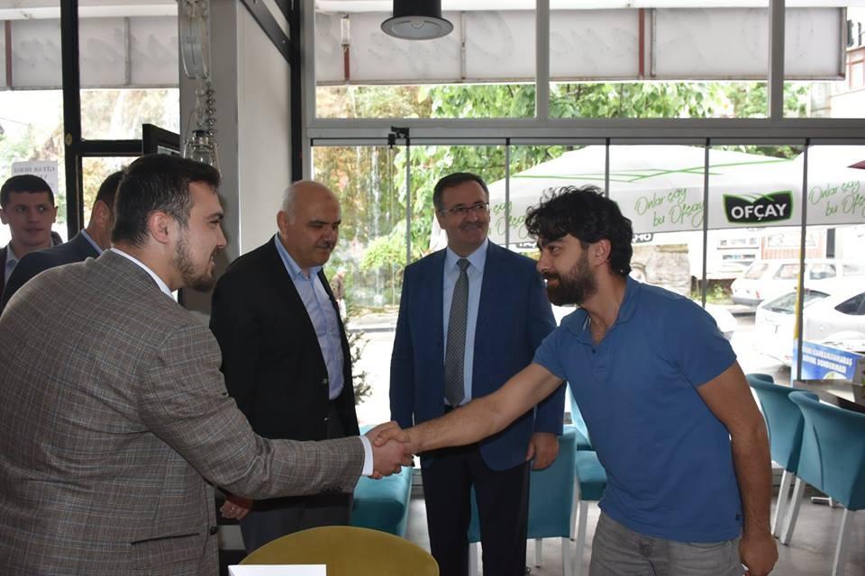 AK Parti heyetinden Kızılcahamam'da esnaf ziyareti