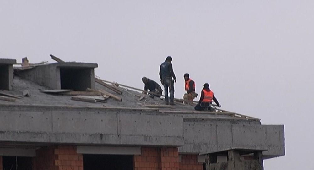 (Özel) İstanbul'da işçilerin ölümle dansı kamerada