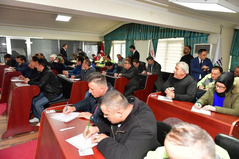 Ünye Belediyesinde kadro sınavı heyecanı
