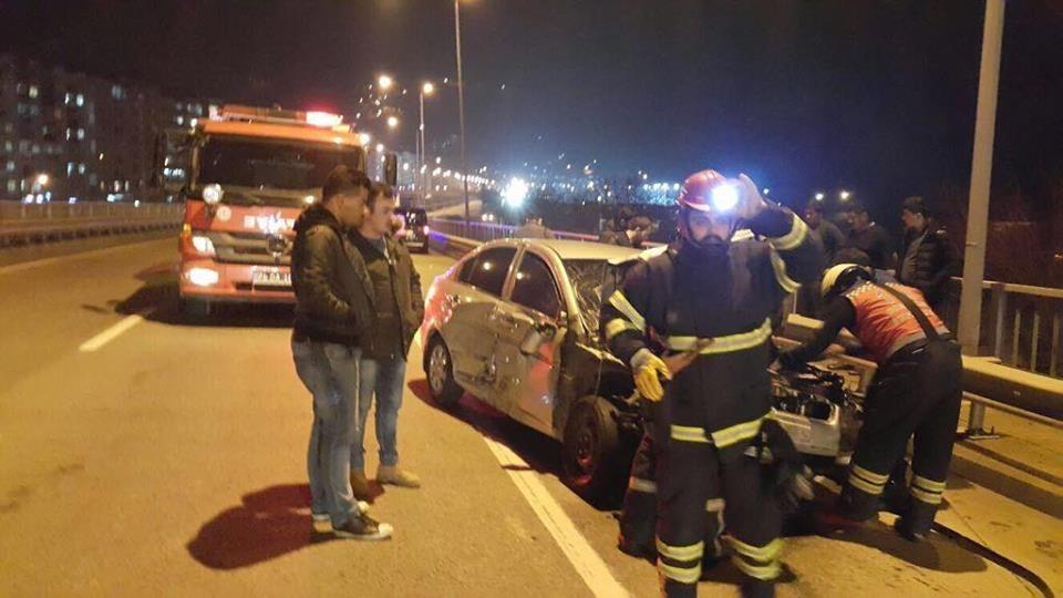 Karadeniz sahil yolunda kaza: 6 yaralı