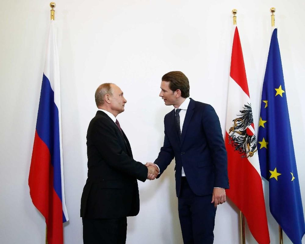 Putin Viyana'da Cumhurbaşkanı Bellen'den Sebastian Kurz bir araya geldi