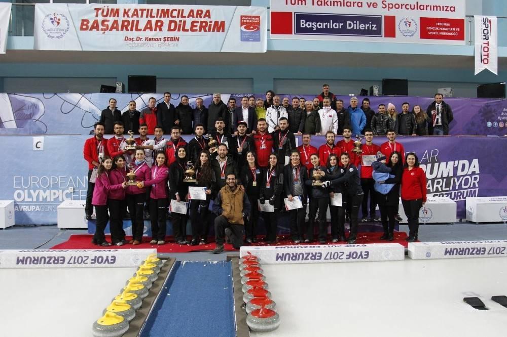Curling şampiyonlar belli oldu