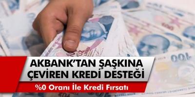 Akbank'tan başvuru yapanlara anında yüzde 0 faiz oranıyla nakit para veriliyor…