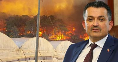 Antalya'daki Yangınla İlgili Bakandan Açıklama